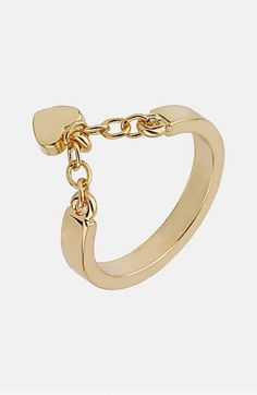 $10 Topshop 'Heart Chain' Ring available at Nordstrom
