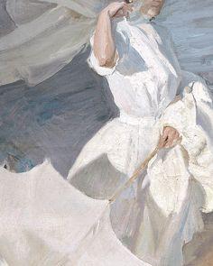 Joaquín Sorolla y Bastida - Strolling along the Seashore The lady in white