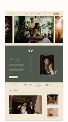 App Design, Branding Design, Photography Website Design, Bridal Designers, Portfolio Layout, Website Design Inspiration, Website Themes, Portrait Photographers, Design Elements