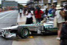 Lewis Hamilton leaves the garage - 2013 Canadian GP FP3