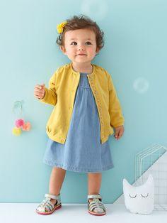#robe chambray #fille #bébé - Collection Printemps-Eté 2016 - www.vertbaudet.fr