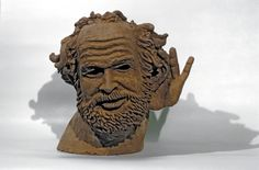 Hear, 1973. Ceramic, 43 x 43 x 36 cm (17 x 17 x 14 1/8). Private collection. Photo courtesy of the artist. © Estate of Robert Arneson / Licensed by VAGA. (8S-18538arvg)