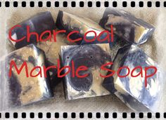 Charcoal Marble soap 100 percent natural made with charcoal from sustainable bamboo, steam treated for purity. This soap is fantastic for oily, blemished skin, charcoal is a natural detoxifier with the ability to draw impurities and excess oils from skin.