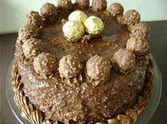 Bolo de Ferrero Rocher