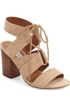 Steve Madden 'Emalena' Ghillie Sandal (Women) available at #Nordstrom -- chunky heel for work and weekends!