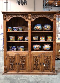 The Librero Colonial is made from solid pinewood. Functioning as a book or display case, add the Librero Colonial to your office or library to give a touch of Spanish design. Featured in our 19th Anniversary Fiesta Celebration.