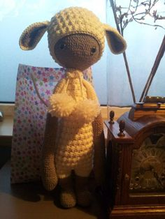 LUPO the lamb made by Mandy Sch. / crochet pattern by lalylala