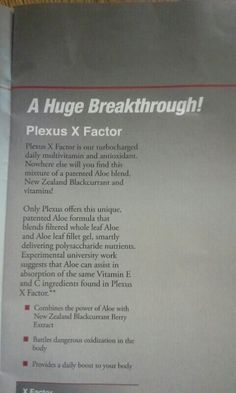 Plexus X Factor
