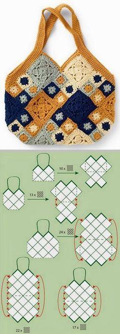 Letras e Artes da Lalá: Bolsas de crochê (fotos: pinterest)