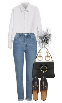 """""""Untitled #4066"""" by lily-tubman ❤ liked on Polyvore featuring Y's by Yohji Yamamoto, Topshop, J.W. Anderson and Gucci"""