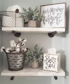 Cool Cool bathroom farmhouse rustic style shelving with storage ideas and DIY signs  The post  Cool bathroom farmhouse rustic style shelving with storage ideas and DIY signs…  appeared first ..
