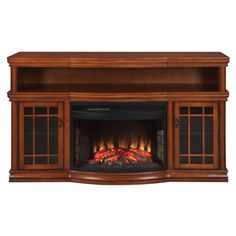We are getting one of these for the basement. I LOVE the idea of it being a media center AND electric fireplace!