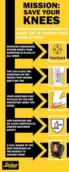 5 Ways Snickers Workwear Helps You Protect Your Knees - When you're hard at work you need the best #protection for your knees possible. Our patented KneeGuard system helps you do that, so you can work and save your knees for when the work is done.