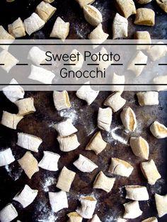 Sweet potato gnocchi - made with whole wheat spelt flour, this gnocchi ...