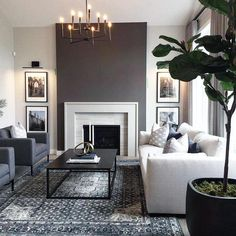 Hold up to date with the latest small living room a few ideas (chic & modern). Find great ways to get fashionable style even though you have a small living room. Modern Contemporary Living Room, Living Room Modern, Living Room Designs, Small Living, Modern Art, Living Room Grey, Living Room Furniture, Living Room Decor, Rustic Furniture