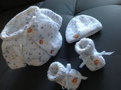Layette PREMA Brassière - Bonnet Chaussons 34 a 38 semaines : Mode Bébé par coeur-de-layette