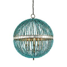 Turquoise Light Ideas : Turquoise Light Chandelier With Round Shape Image id 2149 - GiesenDesign