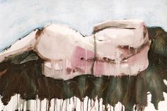 Curled pink lying figure - life painting by Melanie McDonald - from my blog Gauguin's Loft