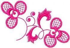 Pink flower free embroidery design. Machine embroidery design. www.embroideres.com