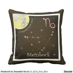 Steinbock 22. Dezember bis 20. Januar Kissen