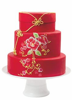 Cakes, Food & Wine Chinese Style Wedding Cake | Inspirations & Planning | Parties | 婚禮統籌 | 婚禮靈感 | 囍結 TieTheKnots.HK | Wedding