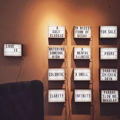 MY APT. x Arf handmade lightboxes available at www.heimastore.com  #lightbox #handmade Chicken Skin, Lightbox, Make It Yourself, Instagram Posts, Handmade, Furniture, Hand Made, Home Furnishings, Handarbeit