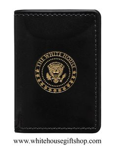 """The White House Pocket Jotter and Memo Pad.  Stitched, Black, 22KT and Gold Embossed Seal. 4"""" x 3"""" Uses Standard Padfolio or Memo Pads. Enter Promo Code """"PIN"""" for 10% off your entire purchase!"""