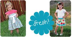 Fresh pdf patterns for your little girl from the Peek-a-Boo Pattern Shop!