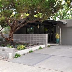 Modern Concrete Driveways Design Ideas, Pictures, Remodel, and Decor