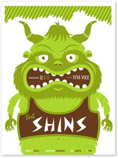 The Shins Concert Poster by Vahalla Studios (top)