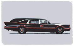 Is that Batman& hearse? Batman Batmobile, Flower Car, Us Cars, Concept Cars, Custom Cars, Cool Cars, Dream Cars, Station Wagon, Classic Cars