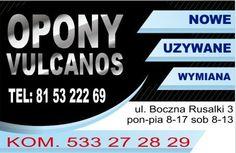OPONY LUBLIN VULCANOS - wymiana opon