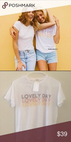 Brandy Melville lovely day top NWT Brandy Melville Tops Tees - Short Sleeve