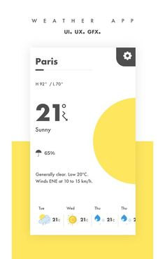 "Check out my @Behance project: ""Weather app UI/UX"" https://www.behance.net/gallery/46738897/Weather-app-UIUX"