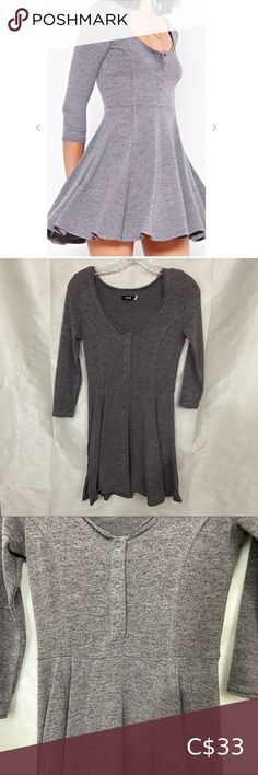 Check out this listing I just found on Poshmark: UP BDG Heather Grey Skater Dress. #shopmycloset #poshmark #shopping #style #pinitforlater #Urban Outfitters #Dresses & Skirts