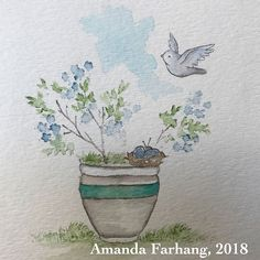 Day 12 of coloring challenge. I was on a roll today! Watercolor And Ink, Watercolor Flowers, Watercolor Paintings, Doodle Art Drawing, Art Drawings, Art Impressions Stamps, Wonderwall, Ink Art, Watercolours