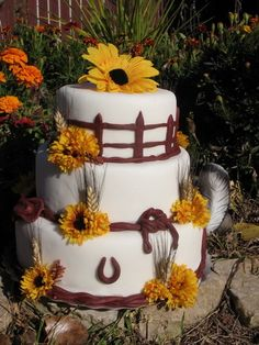 Western wedding cake - Fake - $180.00 plus shipping.