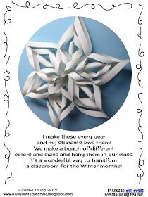 Snowflake Craft Tutorial advanced version for snowflake making day?