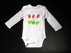 """Body """"Tulipán"""". Disponible babero a juego: https://www.facebook.com/lolitalunakids/photos/a.1425410684344136.1073741833.1421183144766890/1655554204663115/?"""