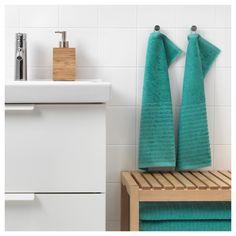 IKEA - VÅGSJÖN, Ručnik za gosta, Mekani ručnik od frotira koji dobro upija (težina 390 g/m²).Duga, fina vlakna češljanog pamuka čine ručnik mekanim i izdržljivim.