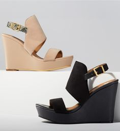Loving these modern wedge sandals. One of each, please!