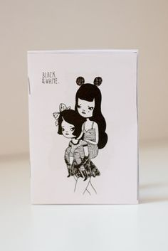 Black & White  32page illustrated Zine by Mel by girliepains, $5.00