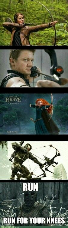 An arrow in the knee means getting married but this is funny