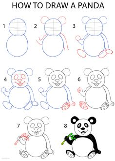 How to Draw a Panda Step by Step Drawing Tutorial with Pictures | Cool2bKids
