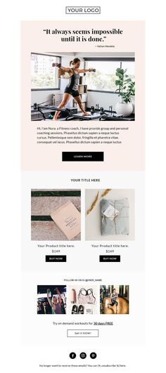 Creative Template, Email, Fitness, Mailchimp, and Newsletter image ideas & inspiration on Designspiration Newsletter Design Templates, Template Web, Email Newsletter Design, Email Templates, Email Newsletters, Email Marketing Design, Email Design, Online Marketing, Mail Chimp Templates