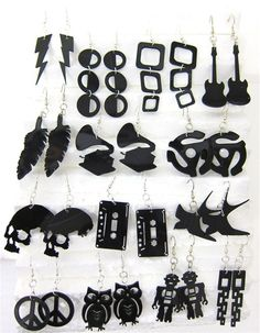 vinyl record earrings                                                                                                                                                                                 More