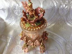 Kirks Folly Flower Fairy Candle Holder On Stand Pink 80. july 2014