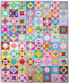 Economy Block Quilt   80 Blocks   720 fabric pieces  200+ different fabrics       I am so pleased to have finished my Economy Block Qui...