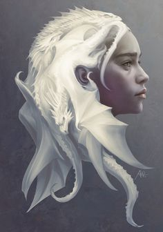 Khaleesi // Game of Thrones Amazing fan art! Game of Thrones Fan Art with Daenerys Targaryen and dragons as her hair. Art Game Of Thrones, Dessin Game Of Thrones, Game Of Thrones Khaleesi, Game Of Thrones Poster, Game Of Thrones Dragons, Fantasy Kunst, Fantasy Art, Stanley Lau, The Mother Of Dragons