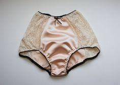 high waist satin panty